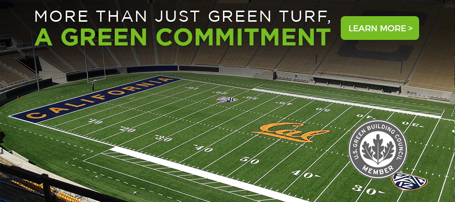 green grass football field green striped awarded greenest college stadiums in 2015 gold leed certification for landmark example of adaptive artificial grassturf sports field construction