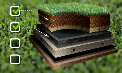 Synthetic Turf Products Infill Elastic Layers Pads